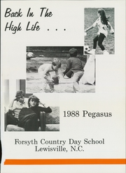 Page 5, 1988 Edition, Forsyth Country Day School - Pegasus Yearbook (Lewisville, NC) online yearbook collection