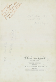 Page 7, 1937 Edition, North High School - Black and Gold Yearbook (Winston Salem, NC) online yearbook collection
