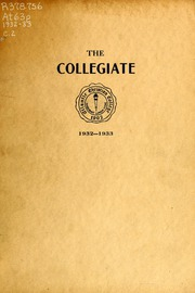 Page 1, 1933 Edition, Atlantic Christian College - Pine Knot Yearbook (Wilson, NC) online yearbook collection