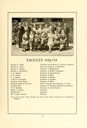 Page 11, 1933 Edition, Atlantic Christian College - Pine Knot Yearbook (Wilson, NC) online yearbook collection