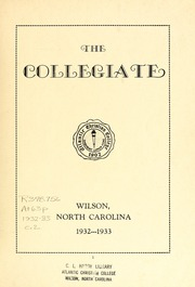 Page 3, 1933 Edition, Atlantic Christian College - Pine Knot Yearbook (Wilson, NC) online yearbook collection