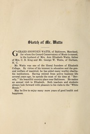 Page 14, 1903 Edition, Elizabeth College - Caps and Belles Yearbook (Charlotte, NC) online yearbook collection