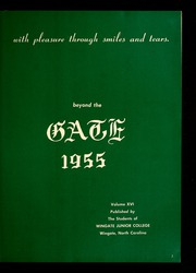 Page 7, 1955 Edition, Wingate University - Gate Yearbook (Wingate, NC) online yearbook collection