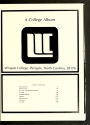 Page 5, 1977 Edition, Wingate University - Gate Yearbook (Wingate, NC) online yearbook collection