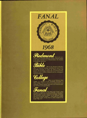 Page 7, 1968 Edition, Piedmont Bible College - Fanal Yearbook (Winston Salem, NC) online yearbook collection