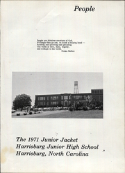Page 7, 1971 Edition, Harrisburg Junior High School - Junior Jacket Yearbook (Harrisburg, NC) online yearbook collection