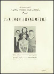Page 7, 1948 Edition, Fuquay Springs High School - Greenbriar Yearbook (Fuquay Springs, NC) online yearbook collection