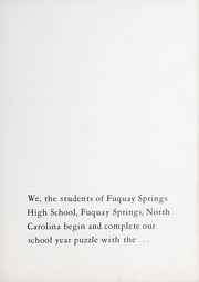 Page 5, 1960 Edition, Fuquay Springs High School - Greenbriar Yearbook (Fuquay Springs, NC) online yearbook collection