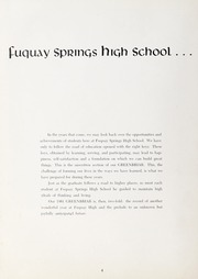 Page 8, 1961 Edition, Fuquay Springs High School - Greenbriar Yearbook (Fuquay Springs, NC) online yearbook collection