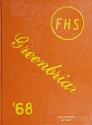 Fuquay Springs High School - Greenbriar Yearbook (Fuquay Springs, NC) online yearbook collection, 1968 Edition, Page 1