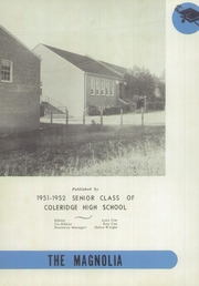Page 6, 1952 Edition, Coleridge High School - Magnolia Yearbook (Coleridge, NC) online yearbook collection