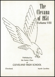 Page 7, 1954 Edition, Cleveland High School - Clevana Yearbook (Cleveland, NC) online yearbook collection