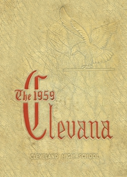 1959 Edition, Cleveland High School - Clevana Yearbook (Cleveland, NC)