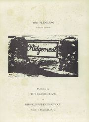 Page 5, 1951 Edition, Ridgecrest High School - Fledgling Yearbook (Stanfield, NC) online yearbook collection