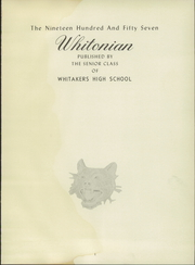 Page 5, 1957 Edition, Whitakers High School - Whitonian Yearbook (Whitakers, NC) online yearbook collection