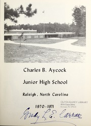 Page 3, 1971 Edition, Aycock Junior High School - Yearbook (Raleigh, NC) online yearbook collection