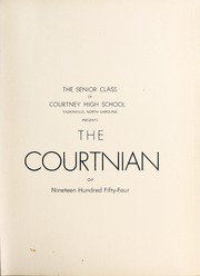 Page 5, 1954 Edition, Courtney High School - Courtnian Yearbook (Yadkinville, NC) online yearbook collection