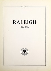 Page 13, 1922 Edition, Raleigh High School - Rattler Yearbook (Raleigh, NC) online yearbook collection