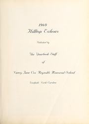 Page 7, 1960 Edition, Nancy Reynolds Memorial School - Hilltop Echoes Yearbook (Westfield, NC) online yearbook collection