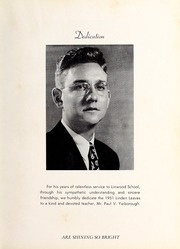 Page 9, 1951 Edition, Linwood High School - Linden Leaves Yearbook (Linwood, NC) online yearbook collection