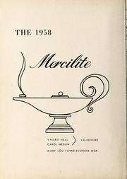 Page 6, 1958 Edition, Mercy School of Nursing - Mercilite Yearbook (Charlotte, NC) online yearbook collection
