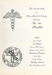 Page 7, 1971 Edition, Mercy School of Nursing - Mercilite Yearbook (Charlotte, NC) online yearbook collection