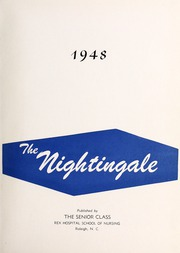 Page 5, 1948 Edition, Rex Hospital School of Nursing - Nightingale Yearbook (Raleigh, NC) online yearbook collection