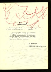 Page 13, 1961 Edition, Henderson Institute - Panther Yearbook (Henderson, NC) online yearbook collection