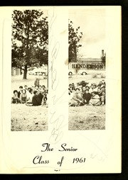 Page 9, 1961 Edition, Henderson Institute - Panther Yearbook (Henderson, NC) online yearbook collection