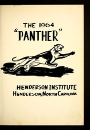 Page 5, 1964 Edition, Henderson Institute - Panther Yearbook (Henderson, NC) online yearbook collection