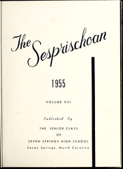 Page 5, 1955 Edition, Seven Springs High School - Sesprischoan Yearbook (Seven Springs, NC) online yearbook collection