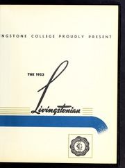 Page 7, 1953 Edition, Livingstone College - Livingstonian Yearbook (Salisbury, NC) online yearbook collection