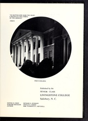 Page 7, 1962 Edition, Livingstone College - Livingstonian Yearbook (Salisbury, NC) online yearbook collection