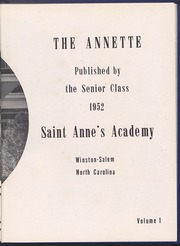 Page 5, 1952 Edition, St Annes Academy - Annette Yearbook (Winston Salem, NC) online yearbook collection