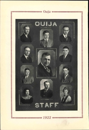 Page 12, 1922 Edition, Grove City College - Ouija Yearbook (Grove City, PA) online yearbook collection