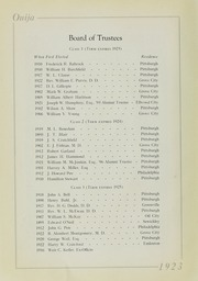 Page 12, 1923 Edition, Grove City College - Ouija Yearbook (Grove City, PA) online yearbook collection