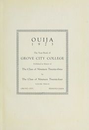Page 5, 1923 Edition, Grove City College - Ouija Yearbook (Grove City, PA) online yearbook collection
