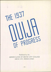Page 17, 1937 Edition, Grove City College - Ouija Yearbook (Grove City, PA) online yearbook collection