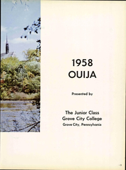 Page 9, 1958 Edition, Grove City College - Ouija Yearbook (Grove City, PA) online yearbook collection