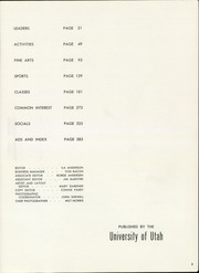 Page 7, 1957 Edition, University of Utah - Utonian Yearbook (Salt Lake City, UT) online yearbook collection