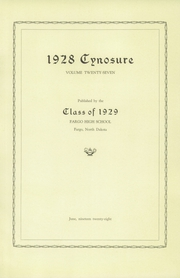 Page 7, 1929 Edition, Fargo Central High School - Cynosure Yearbook (Fargo, ND) online yearbook collection