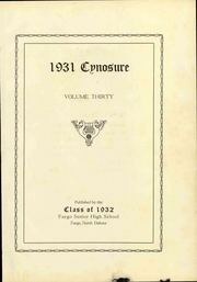 Page 9, 1931 Edition, Fargo Central High School - Cynosure Yearbook (Fargo, ND) online yearbook collection