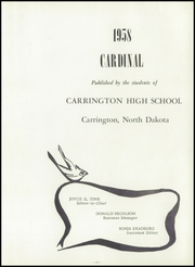 Page 5, 1958 Edition, Carrington High School - Cardinal Yearbook (Carrington, ND) online yearbook collection
