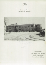 Page 5, 1951 Edition, Leeds High School - Lions Den Yearbook (Leeds, ND) online yearbook collection