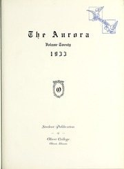 Page 9, 1933 Edition, Olivet Nazarene University - Aurora Yearbook (Bourbonnais, IL) online yearbook collection