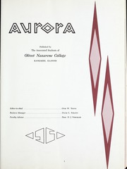 Page 5, 1961 Edition, Olivet Nazarene University - Aurora Yearbook (Bourbonnais, IL) online yearbook collection