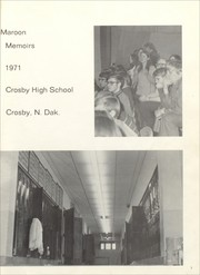Page 5, 1971 Edition, Crosby High School - Maroon Memoirs Yearbook (Crosby, ND) online yearbook collection