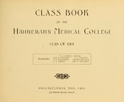 Page 9, 1901 Edition, Drexel University College of Medicine - Hahnemann Medic Yearbook (Philadelphia, PA) online yearbook collection