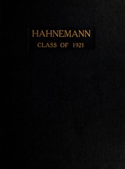 Page 1, 1921 Edition, Drexel University College of Medicine - Hahnemann Medic Yearbook (Philadelphia, PA) online yearbook collection