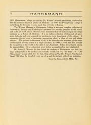 Page 16, 1921 Edition, Drexel University College of Medicine - Hahnemann Medic Yearbook (Philadelphia, PA) online yearbook collection